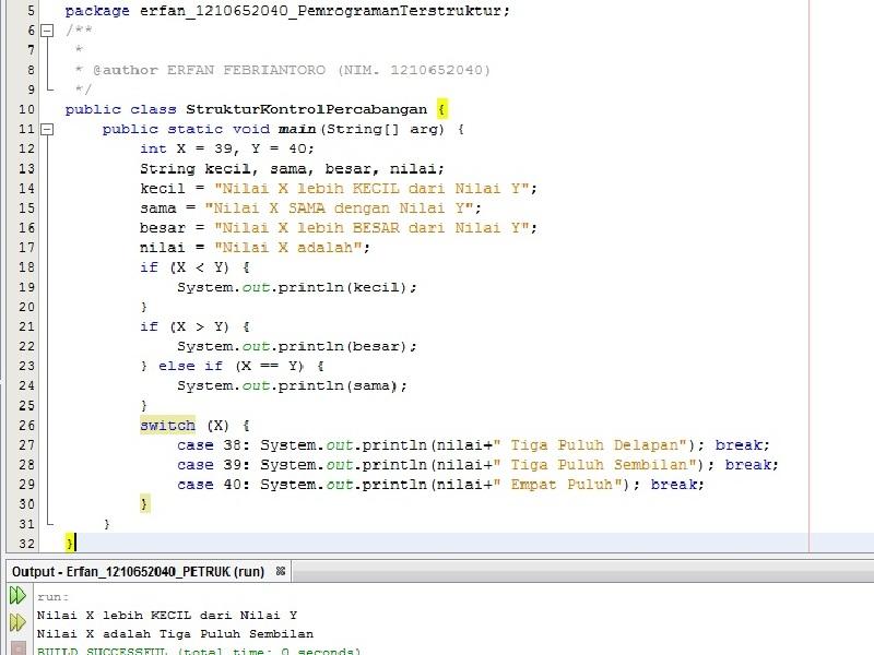 Studi Kasus Pembuatan Program Sederhana Menggunakan Java